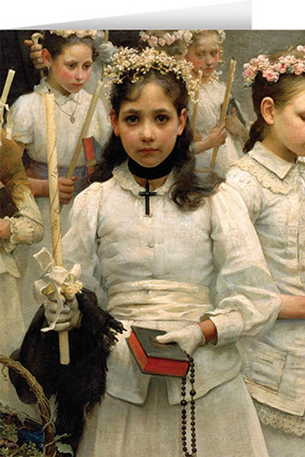 After the First Holy Communion (Detail 1 Girl) Greeting Card