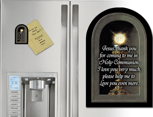 Eucharistic Detail (Prayer) Arched Magnet
