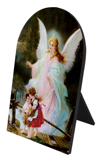 Guardian Angel Arched Desk Plaque II