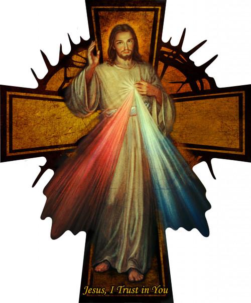 Divine Mercy Wall Plaque Cross