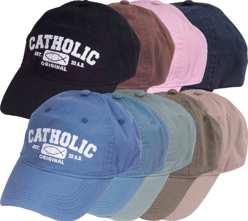 Catholic Original Pigment Dyed Baseball Cap