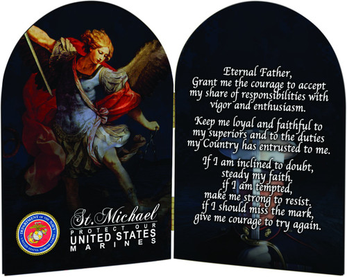 Marines St. Michael I Arched Diptych
