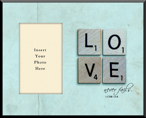 Love Never Fails Photo Frame
