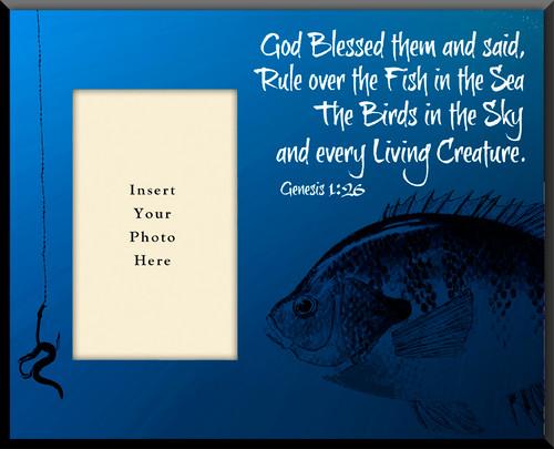 Fishing 'Genesis 1:26' Photo Frame