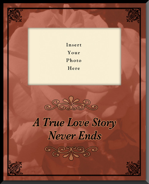True Love Story Vertical Picture Frame (Insert Your Photo)