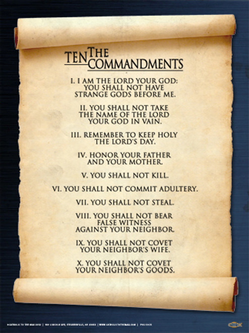 10 commandments scroll poster catholic to the max online