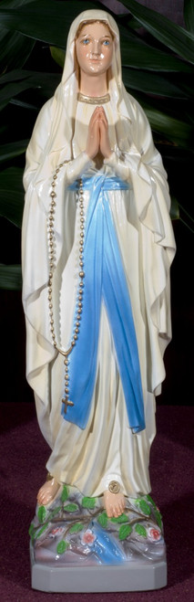 Our Lady of Lourdes Painted Outdoor Statue (Call to Order)