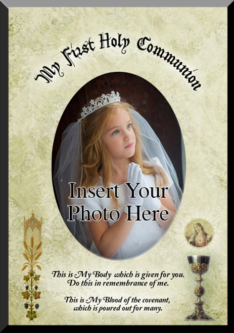 My First Communion (Chalice with Sacred Heart) Photo Frame