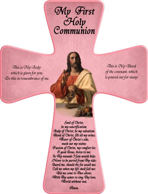 First Communion (Pink) Wall Cross