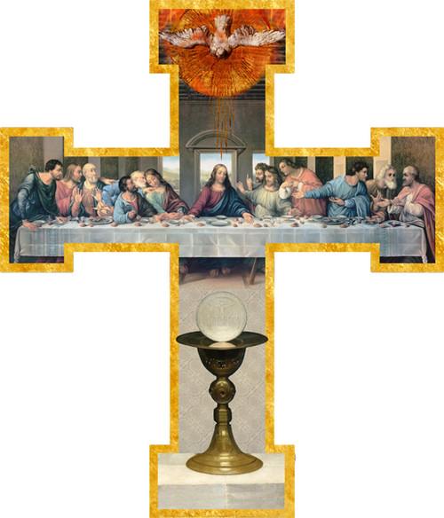 First Communion (Last Supper by Da Vinci Restored) Wall Cross
