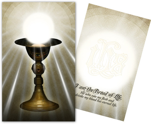 Eucharist, I am the Bread of Life Holy Card