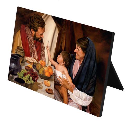 The Holy Family Horizontal Desk Plaque