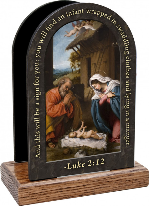 Nativity with Reaching Jesus Prayer Table Organizer (Vertical)