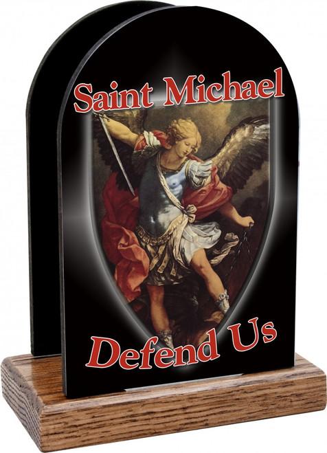 St. Michael Defend Us Table Organizer (Vertical)