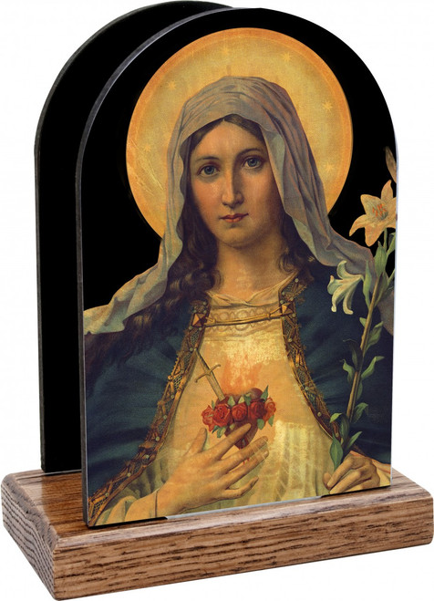 Antique Immaculate Heart Table Organizer (Vertical)