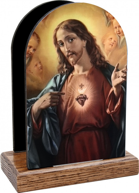 Sacred Heart of Jesus Table Organizer (Vertical)