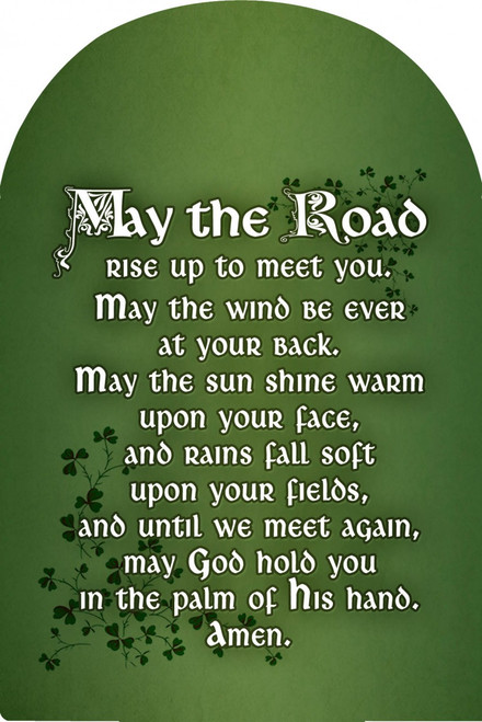 May the Road Rise Arched Magnet