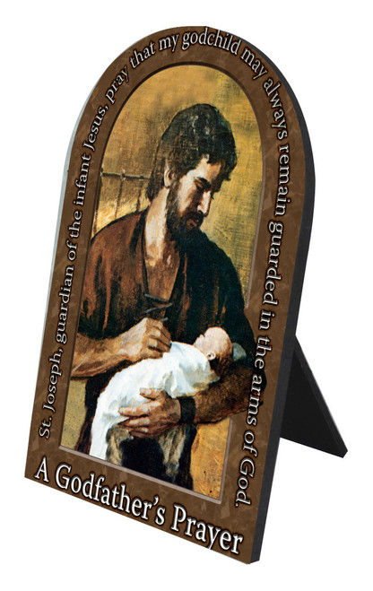 A Godfather's Prayer Arched Desk Plaque