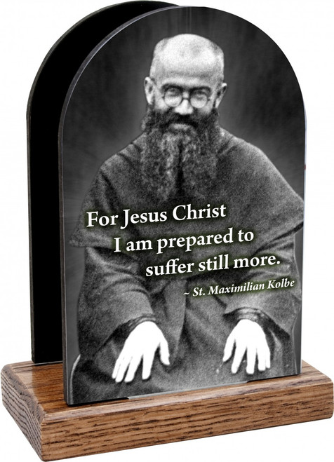 St. Maximilian Kolbe Table Organizer (vertical)