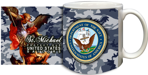 St Michael Navy Mug