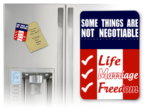 Some Things are not Negotiable Magnet