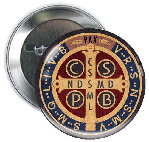 Benedictine Medal Button