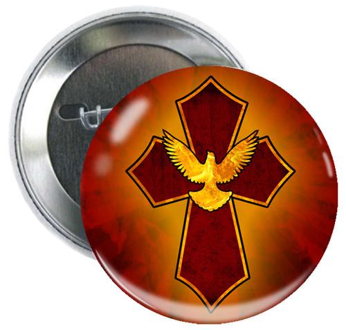 Holy Spirit Cross Button