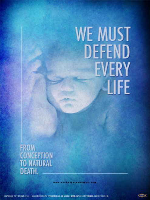We Must Defend Every Life Poster
