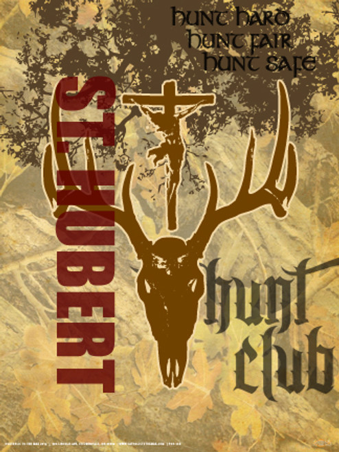 St. Hubert Graphic Poster