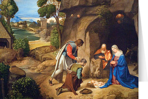 adoration of the shepherds christmas cards