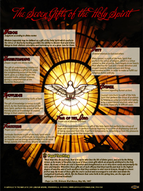 The seven gifts of the holy spirit explained poster catholic to the seven gifts of the holy spirit explained poster negle Image collections