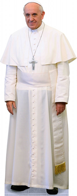 Pope Francis in White Standee