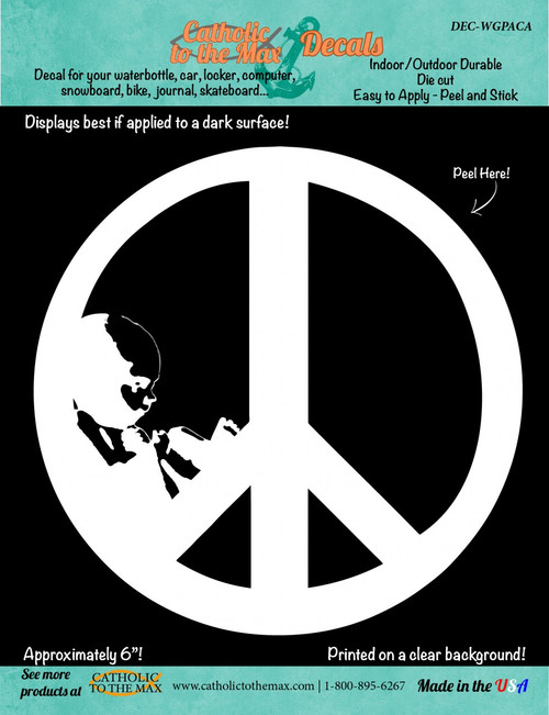 Give Peace a Chance (White) Decal