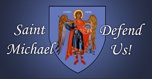 St. Michael (blue) Vinyl Bumper Sticker