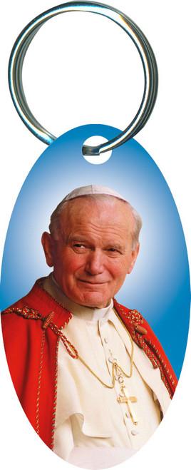 Pope John Paul II Sainthood Oval Keychain