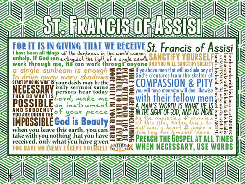 Saint Francis of Assisi Quote Poster