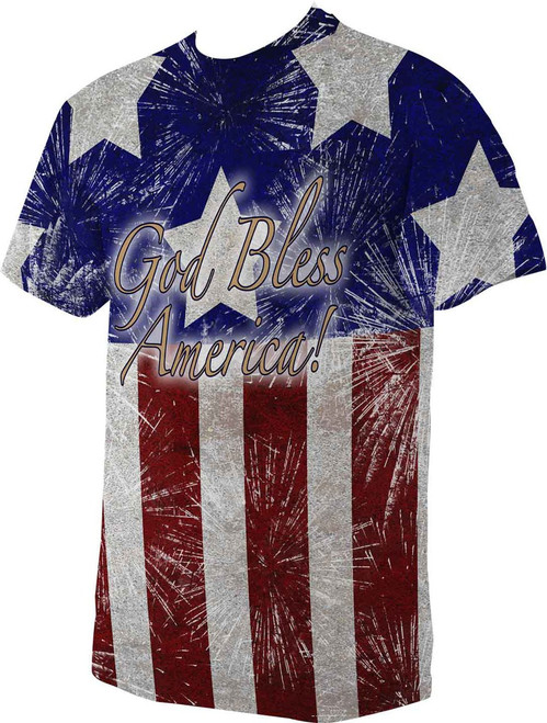 God Bless America Graphic Poly T Shirt