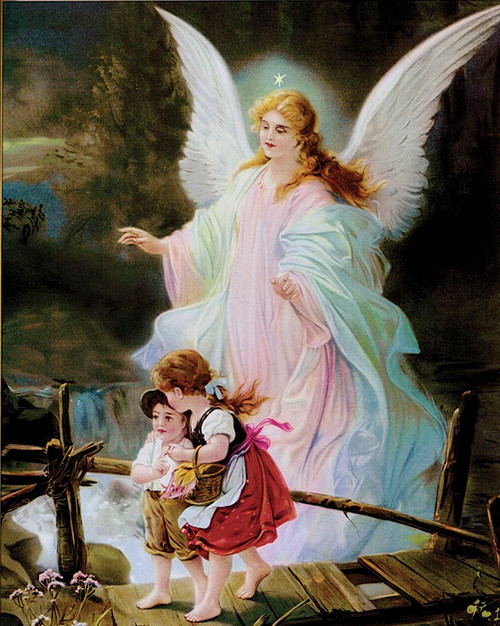 Guardian Angel print in assorted frames