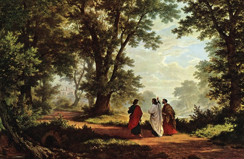 Road to Emmaus print in assorted frames