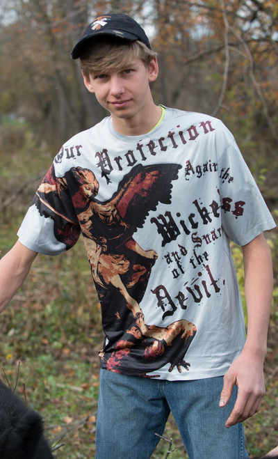 St. Michael the Archangel Graphic Poly T Shirt