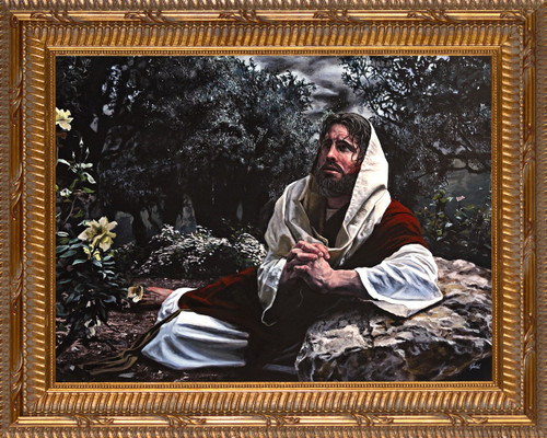 Agony in the Garden by Jason Jenicke - Gold Framed Art