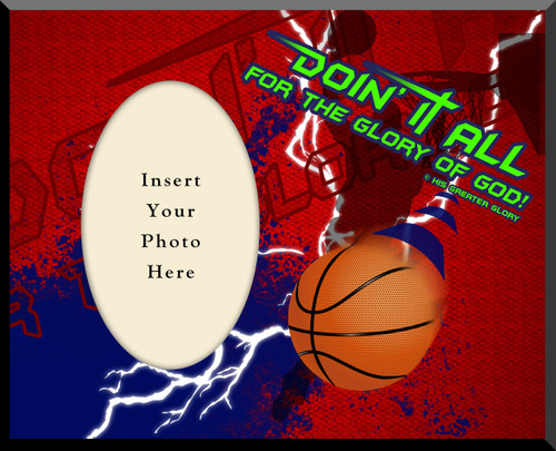 """Doing It All"" Basketball Photo Frame"