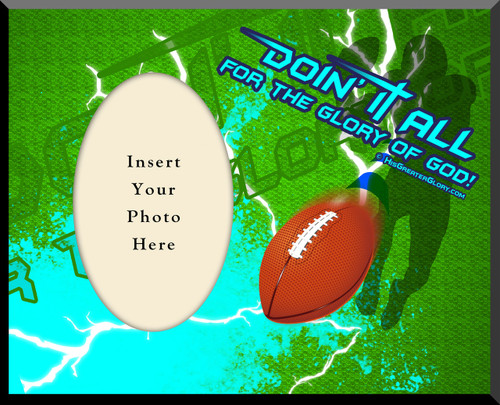 """Doing It All"" Football Photo Frame"