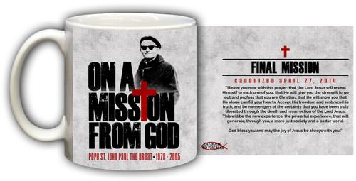 St. John Paul II On A Mission from God Mug
