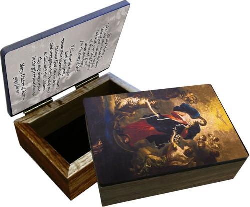 Mary Undoer of Knots Marriage Prayer Keepsake Box
