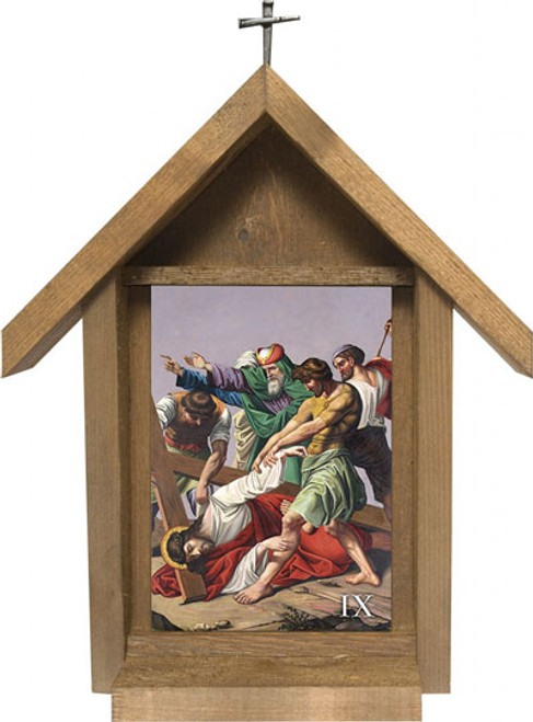 St. Peter's Stations of the Cross Handcrafted Deluxe Outdoor Shrine (Set of 14)