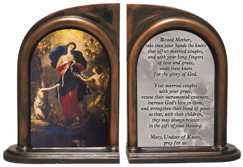 Mary Undoer of Knots Marriage Prayer Bookends