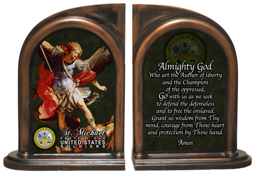 St. Michael Army II Bookends