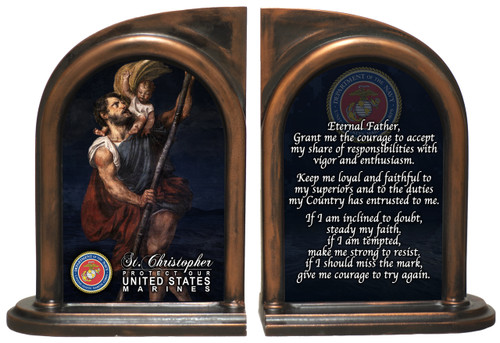 St. Christopher Marines II Bookends