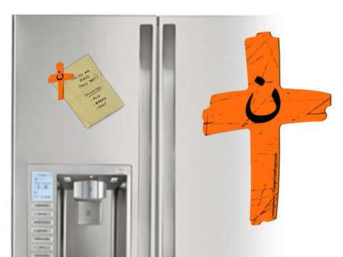 Orange Cross Project Martyr Solidarity Magnet